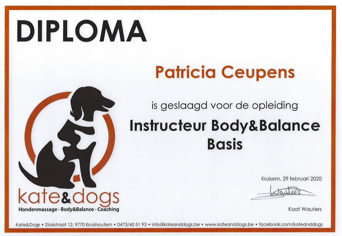 kate&dogs Instructeur Body & Balance Patricia Smiling Dogs
